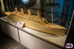 A huge Titanic model made out of matchsticks.