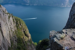 A view of the Lysefjord, just before reaching the Preikestolen.
