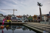 Eastern side of the Vagen inlet, full of picturesque houses housing bars, restaurants and souvenir shops.