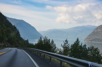 And as soon as you exit the tunnel, the Sognefjord greets you. This is the longest fjord in Norway reaching 205km inland from the ocean.
